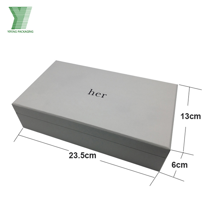 Multifunctional custom design printing white cardboard garment packaging paper box