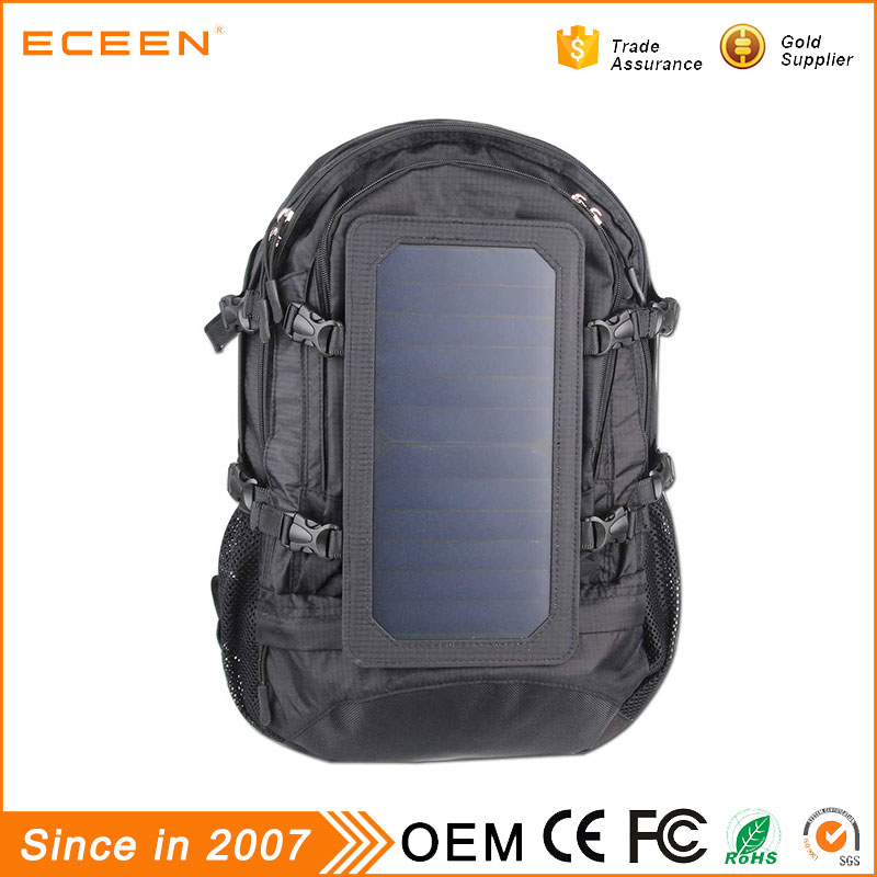 2017 Hot selling outdoor travel laptop solar backpack