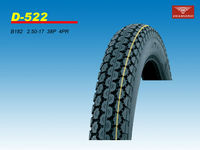 New wholesales moped tire 2.50-17 6PR/8PR front/rare with good quality