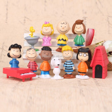 DIHAO Mini plastic snoopy dog toys with little snoopy figure