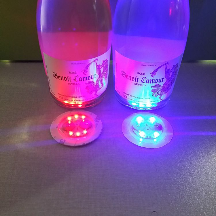 Hot sales factory price colorful music activated LED bottle sticker