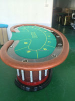 Luxury Texas holdem 10 players poker table with felt and laouts