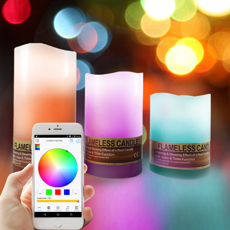 New design,remote led rgb controller house shaped candle