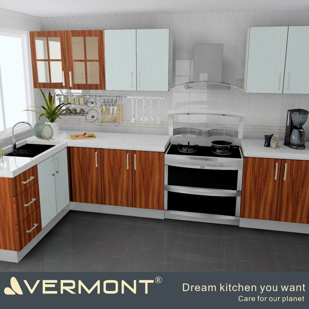 2017 melamine kitchen cabinet made in China(VT-MK-020)