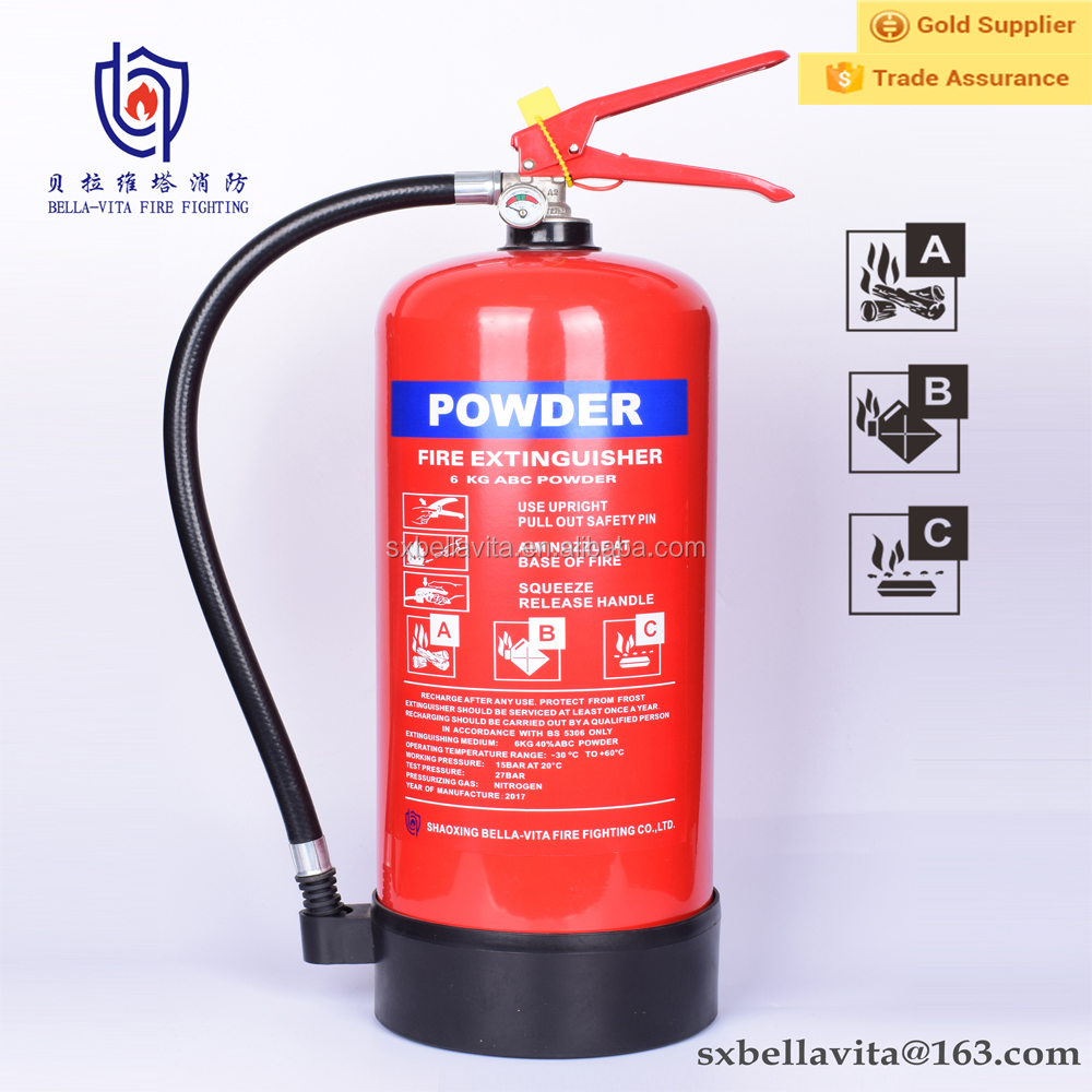 China best selling portable 6kg abc or bc dry chemical powder fire extinguisher fire extinguisher bracket