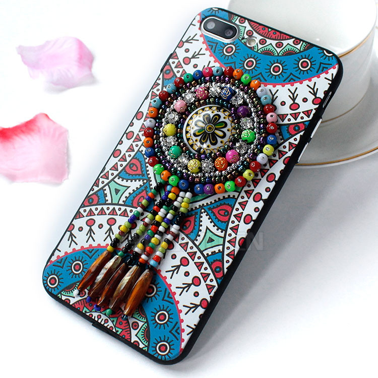 Alibaba Express Tassel Folk Custom 3D PC TPU Case For iPhone 7 Plus,For iPhone7 iPhone 7 Plus Case