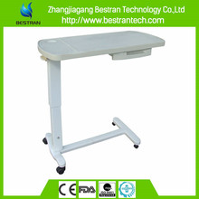 BT-AT009 Super quality plastic abs hospital over bed table with drawer