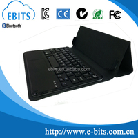 Black classic foldable leather cover keyboard/ bluetooth wireless keyboard 8.9""
