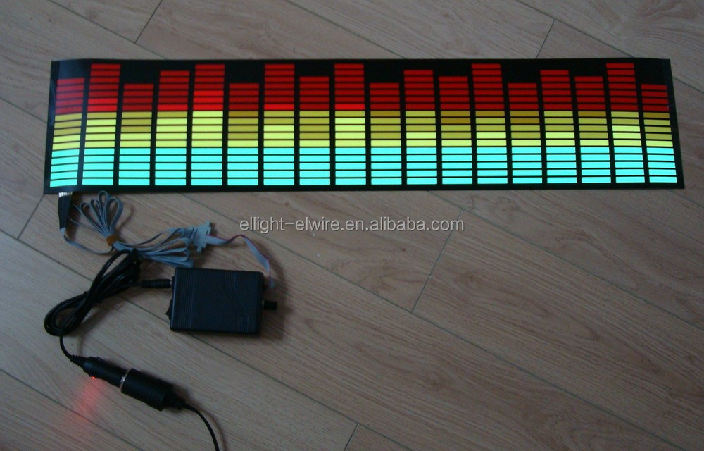 High Quality&High Brightness EL sound control car sticker / 700mmX150mm EL Music car sticker