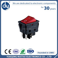 Excellent Material Hot Product Kcd3 Single Pole Rocker Switch With Red Light