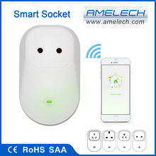 ce rohs saa power monitering wifi app controlled female 220v power plug