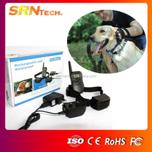 PET998DR 300M Waterproof Rechargeable Remote Dog Shock Training Collars for two dogs