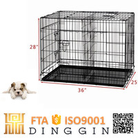 Large iron dog kennel buildings