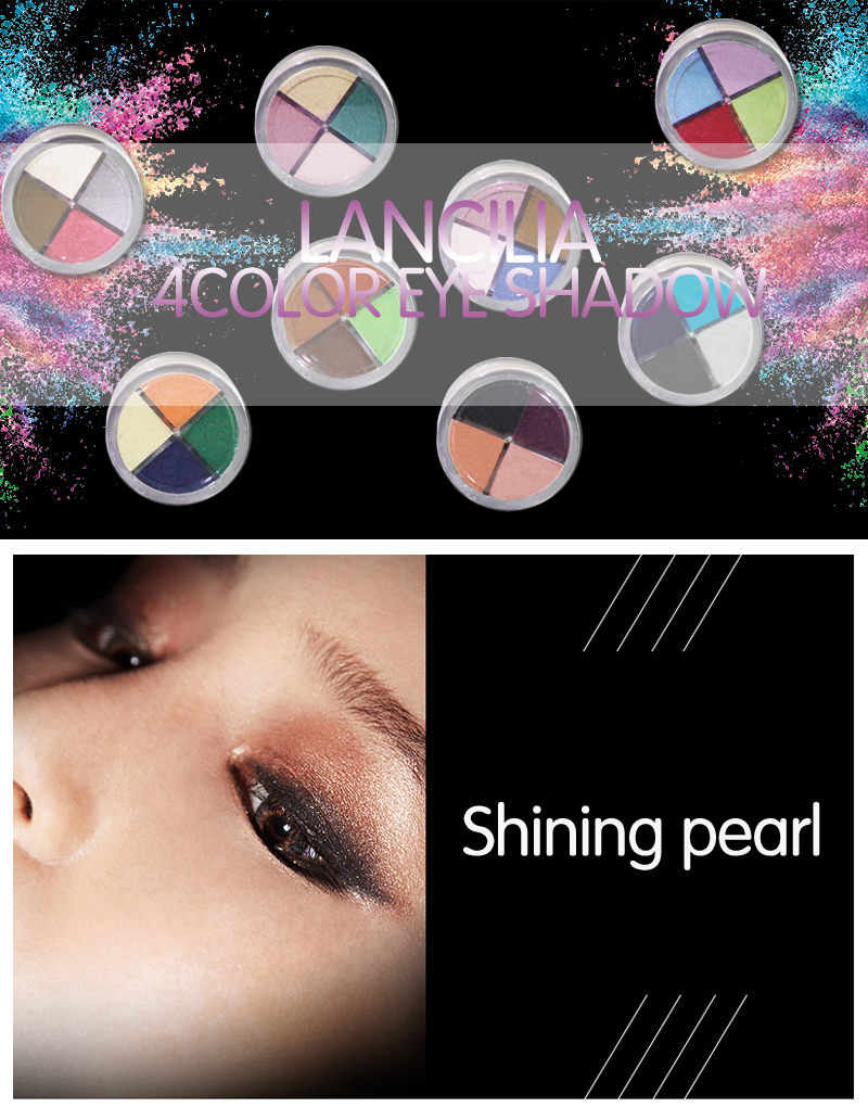 Private label 4 colors loose eyeshadow powder