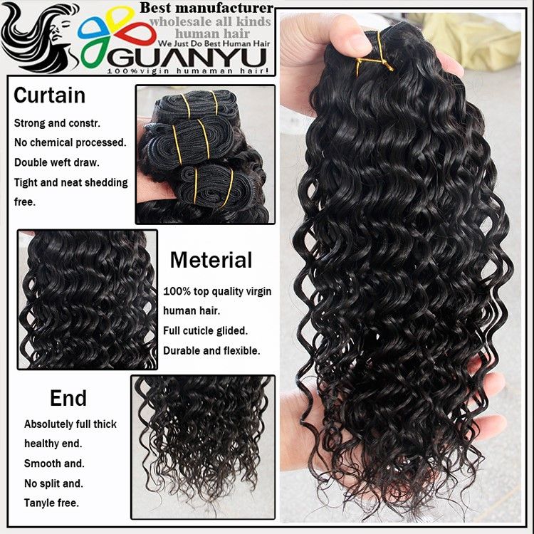 High quality 100% remy human hair deep wave indian copper brown hair color