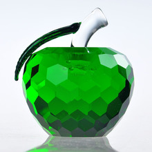 3D Crystal Apple Figurine Crystal Wedding giveaways Gifts