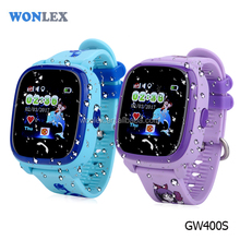 Wonlex GW400S new IP67 waterproof GPS+LBS+SOS smart watch phone for kids1.22 inches color IPS touch screen gps tracker for kids