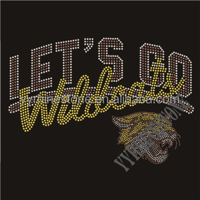 Let's go wildcats sports rhinestone transfer design