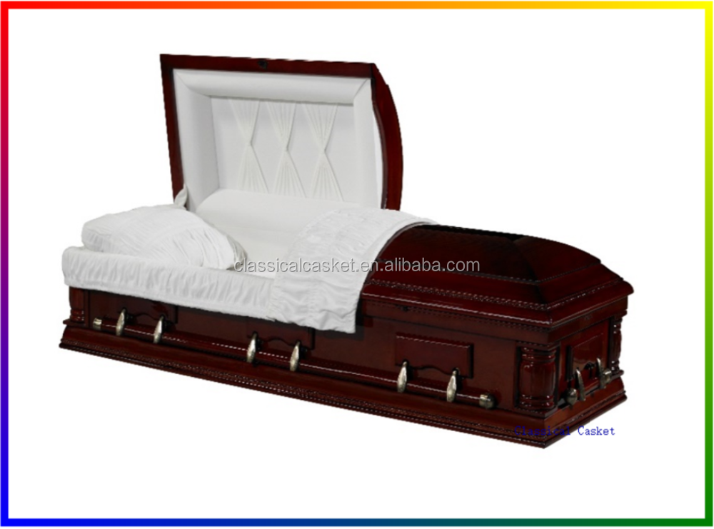 US Style Solid Poplar Wood Cheap Casket Coffins