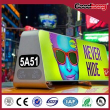 Hot sale wholesale custom outdoor acrylic led taxi top advertising light box