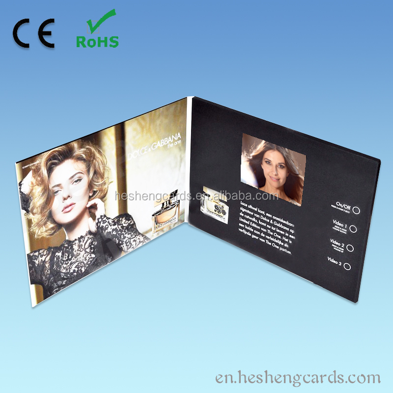 2017 consumer electronics product 4.3 inch lcd video brochure module