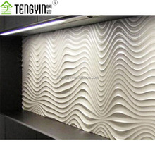 Proveedores de China nuevos productos barato 3D ola MDF pared interior decorativo panelings