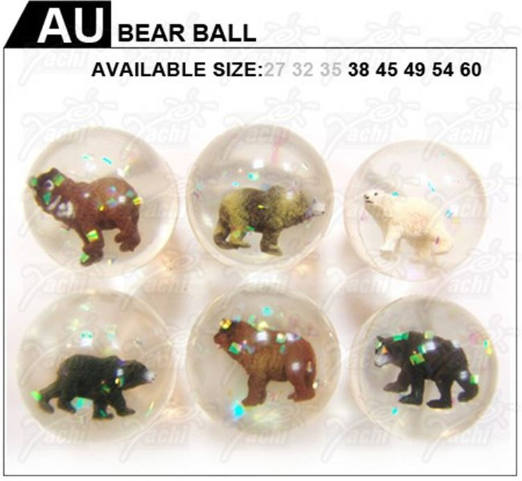 Best selling different patterns wearable mix color kids high bouncing 3D figure ball