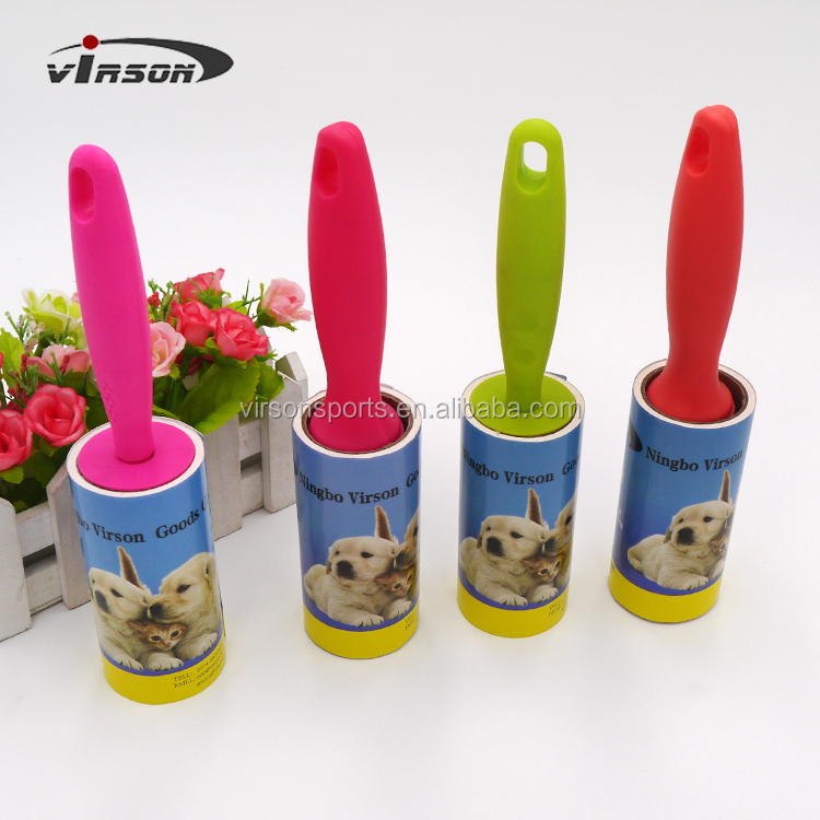 60 layer Roller Pet Dog Dandruff Brush Cleaner Hair Lint Roller Clothes Sticky Adhesive Paper Lint Roller