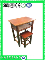 school furniture wood combo school desk and chair HXZY026