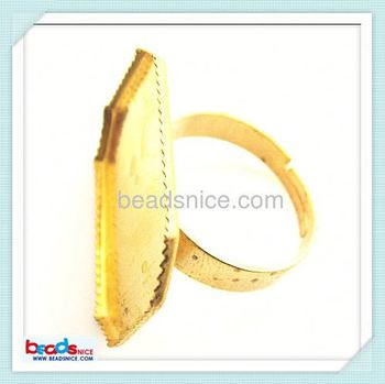 beadsnice Beadsnice ID 25309 Ring settings brass sure-set finger base ring components