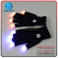 New halloween decoration idea 6 flashing modes led gloves