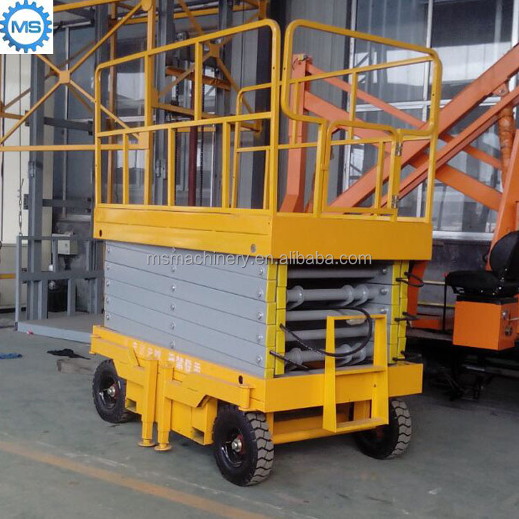 Crafted small platform scissor lift