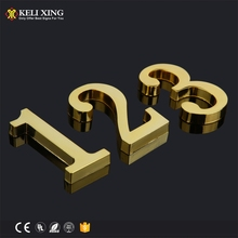 2018 Newest 316 Stainless Steel 3D Hotel Room Number Signs
