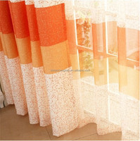 2016 home decor orange curtain fabric grommets hanger curtain