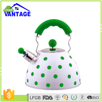 Portable non electric whistling water coffee tea kettle stainless steel for induction cooker or heater