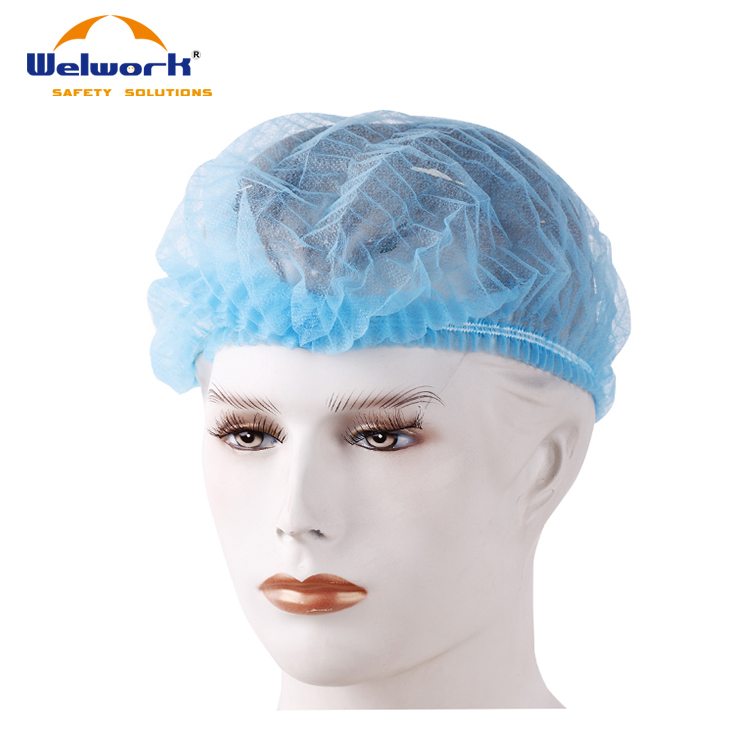 Non-woven bouffant caps CE food industry medical processing disposable caps