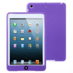 Chocolate Bean Flexible Silicone Case with Soft Home Key Button for iPad mini