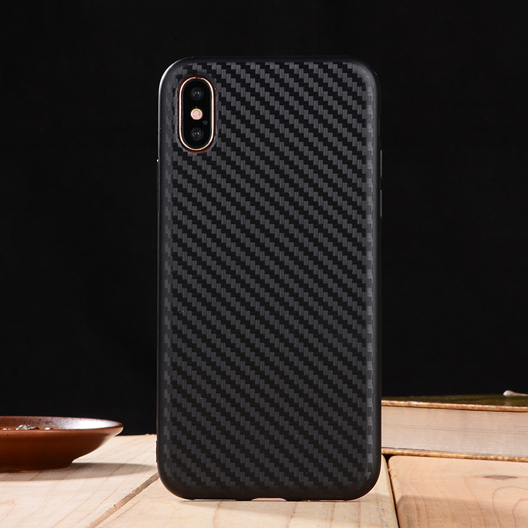 High Quality Custom Printing Shockproof Carbon Firber Phone Case For Iphone 8 Case Phone Back Cover