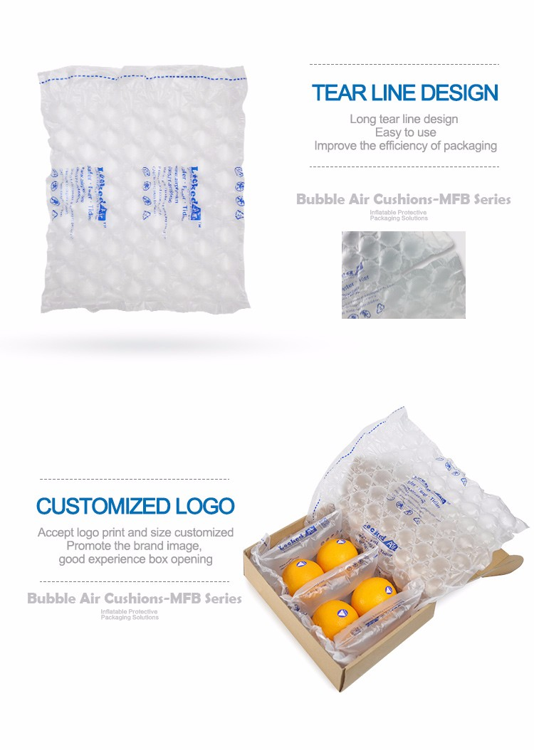 High effeciency E-commerce transportation inflatable air bubble quilt