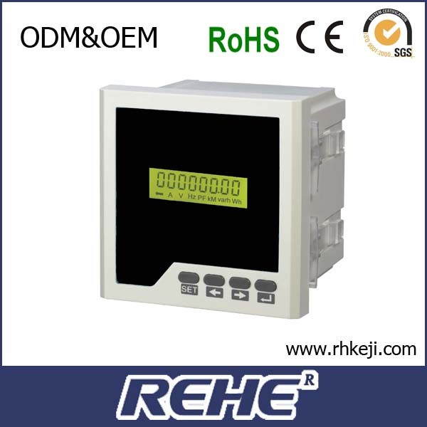 RH-D2Y LCD display single phase RS485 multifunction electric power meter