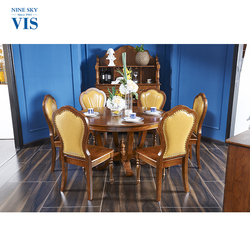 Home Decor Solid Wood Royal Dining Room Sets Furniture Luxury