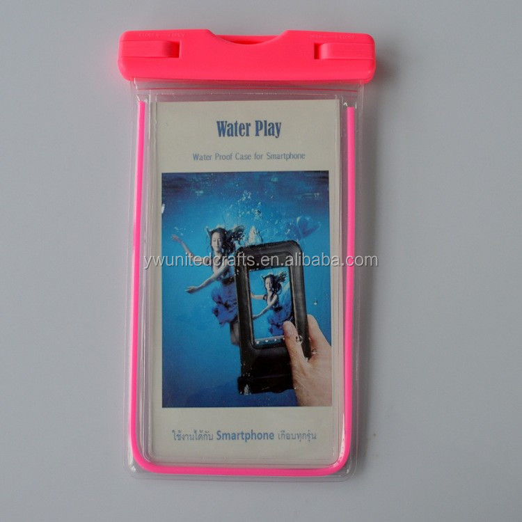 Promotional low price fashional under water waterproof cell phone bag