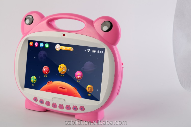Android 5.1 7inch Kids tablets love learning 2 operation system kids learning and singing tablet karaoke machine