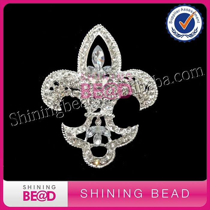 Fashion Rhinestone Cross Brooch For Dresses And Wedding