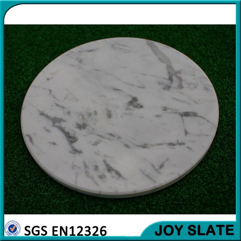 Resturant serving tray white marble+cheese+plate