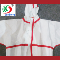 chemical suits for safety protection use, type 4,5,6 tape sealed microporous coverall protective clothing