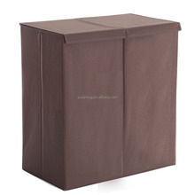 Storage Foldable 2- Compartment Hamper, Laundry hamper with Magnetic Lid Closure