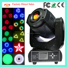 Professional Stage Lighting 6/15CH 3 Facet Prism Rotating Gobo 75 watt Mini Spot 75w LED Moving Head Light