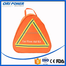 OP manufacture FDA CE ISO approved OEM wholesale fluorescence emergency car accident first aid kit including mini aid kit