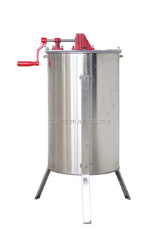 2 frame manual wood hand with metal gear for langstroth frame honey extractor